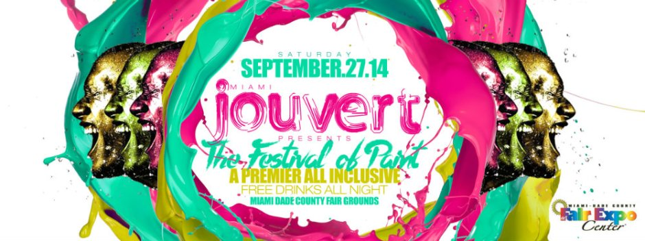 Miami Jouvert 2014 – Festival of Paint